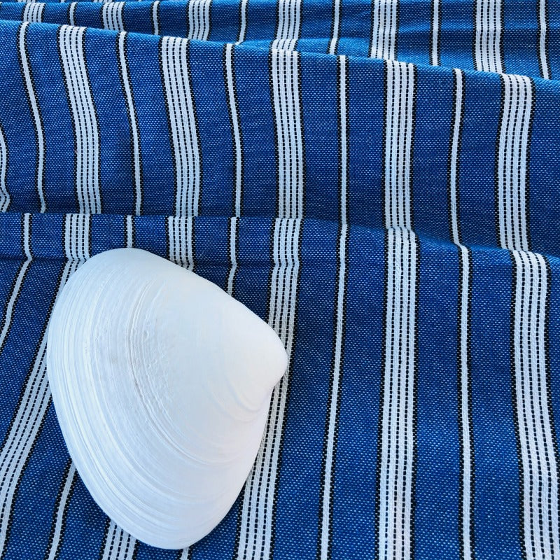 royal blue fouta towel with stripes