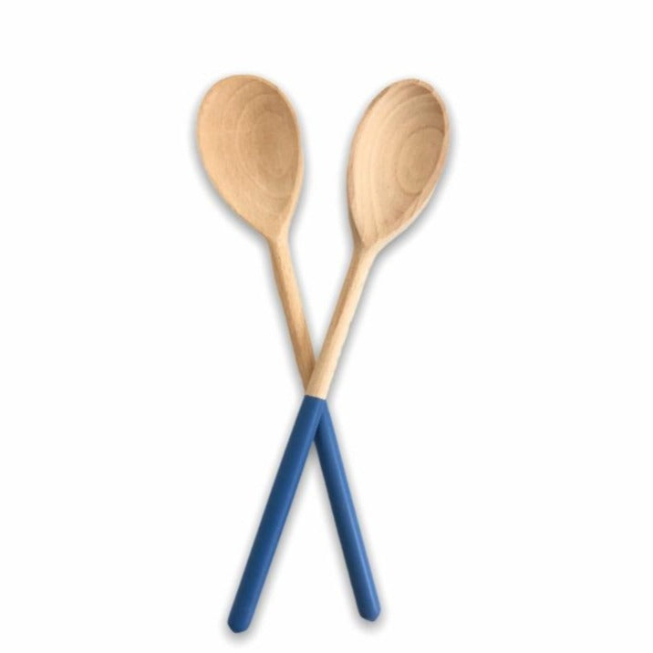 blue wooden salad scoops