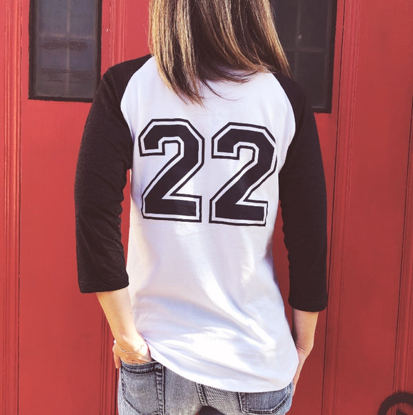 catch 22 womens baseball tee