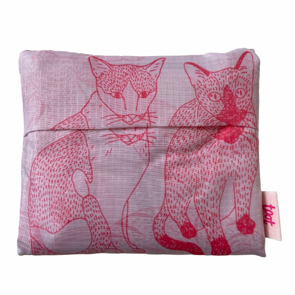 cat lady printed bag in pouch