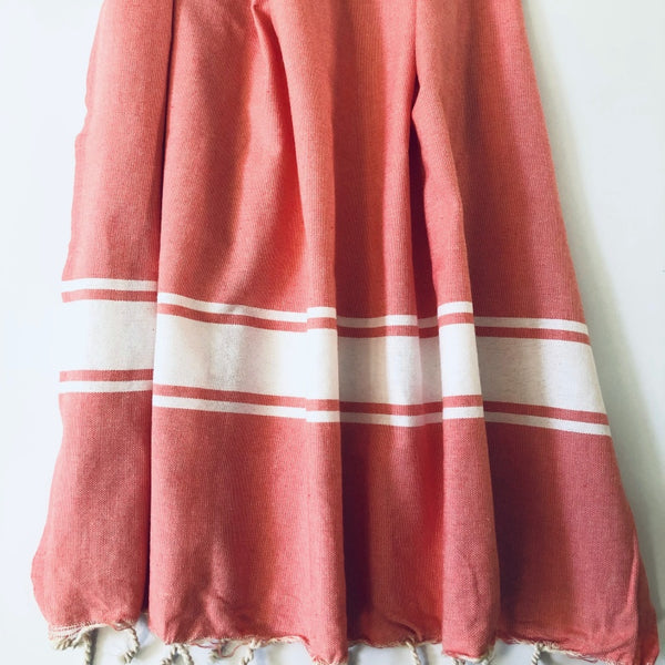 coral turkish towel