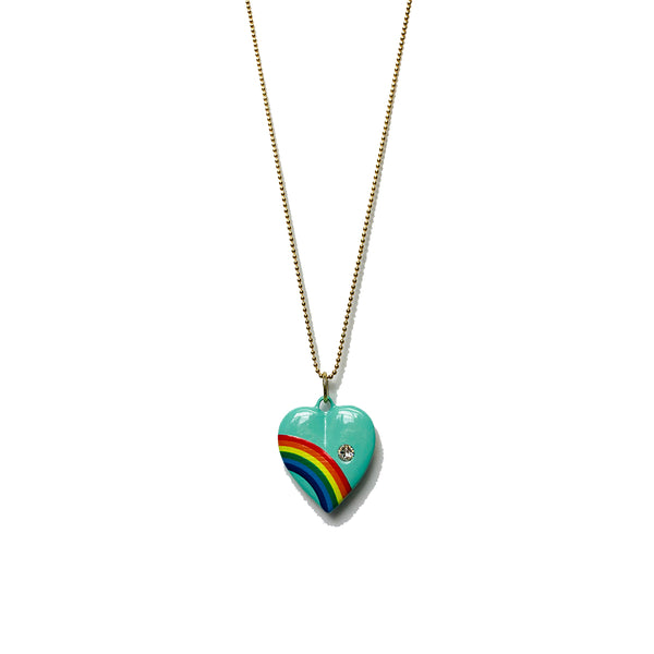 Rainbow Heart Enamel Necklace | 5 Colors