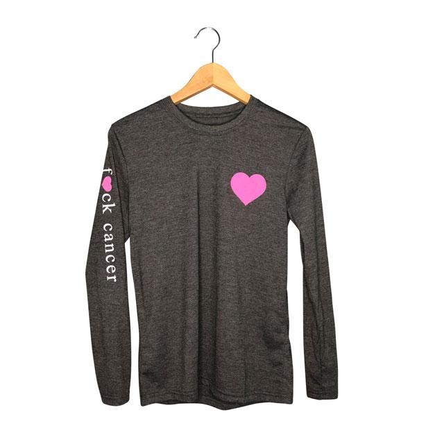 F*ck Cancer |Womens Long Sleeve Loose Fit Graphic Tee