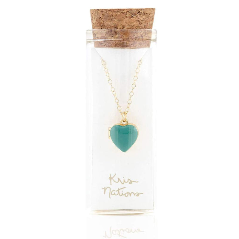Heart Locket necklace in bottle