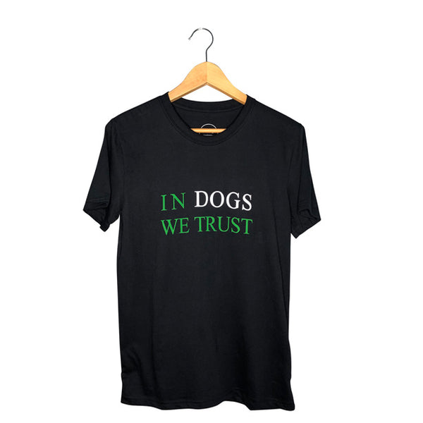 Womens Navy Graphic Tee | In Dogs We Trust graphic