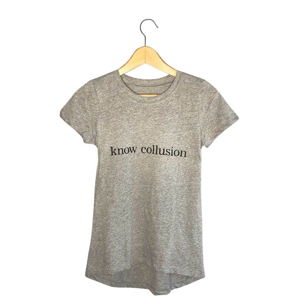 Womens Know Collusion Political Tee Shirt