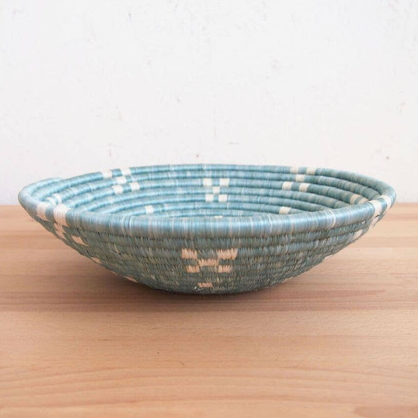 light blue african basket side view