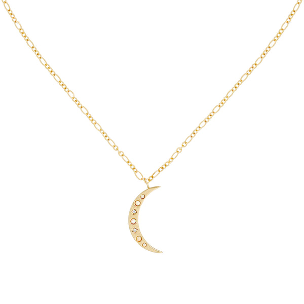 moon charm necklace image