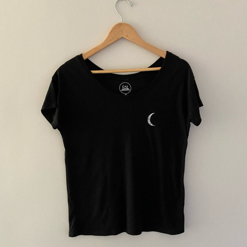 moon phase shirt off the shoulder image