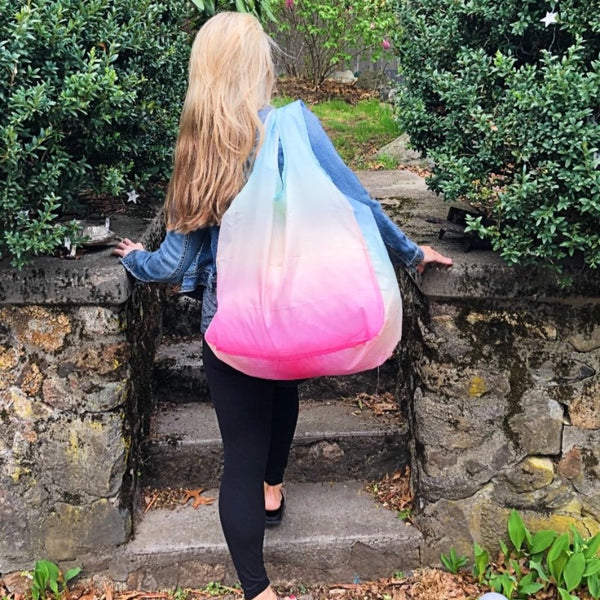 """All the Things"" Tote in Rainbow Ombre 