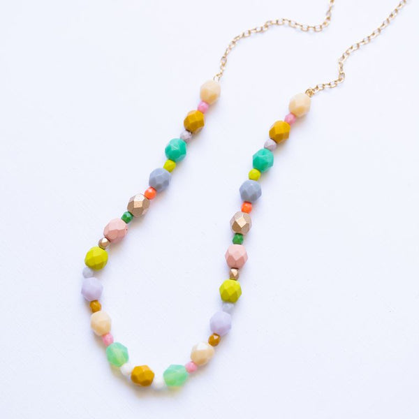 beaded pastel necklace image
