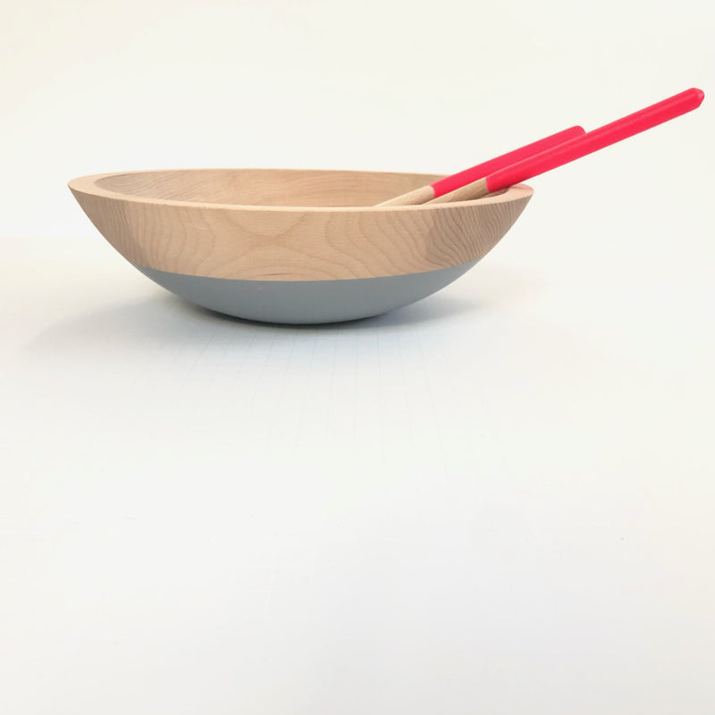 Beech Wood Serving Bowl | Dipped in Gray