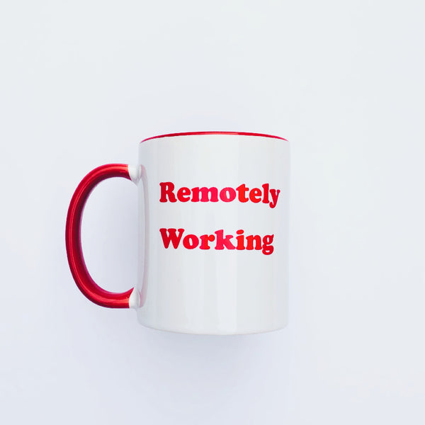remotely working mug picture