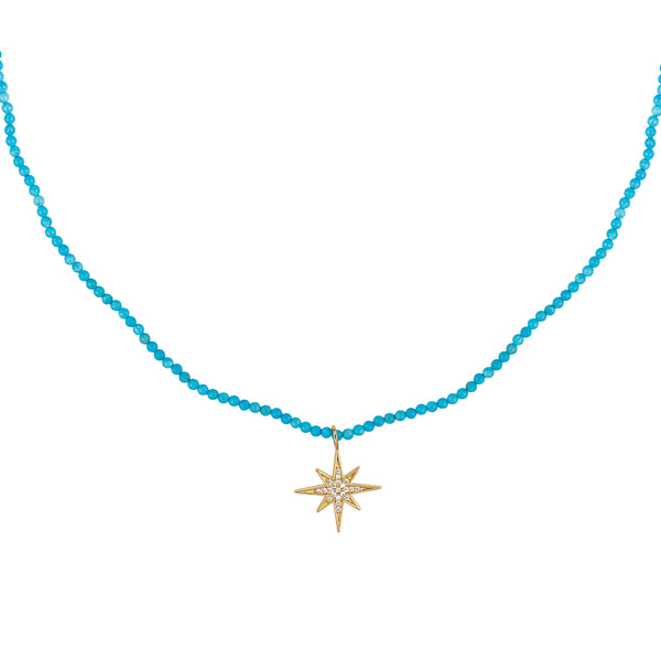 turquoise star burst necklace