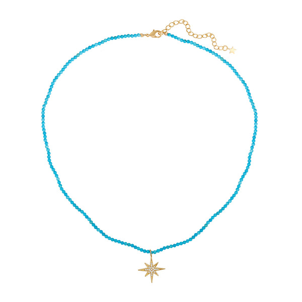 Turquoise star charm necklace