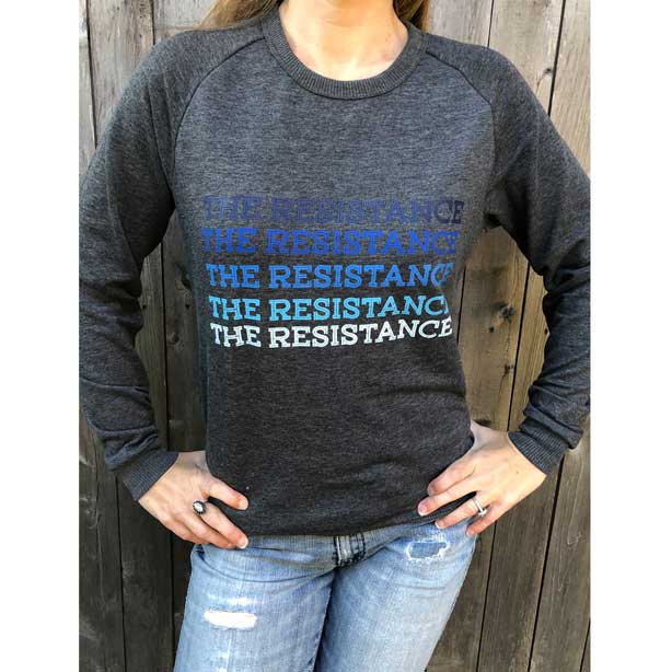 The Resistance Political Sweatshirt | Democratic Graphic
