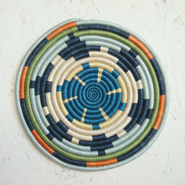 Woven African Trivet | Colorful Mwangaza Design