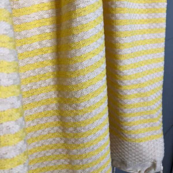 yellow striped fouta pic