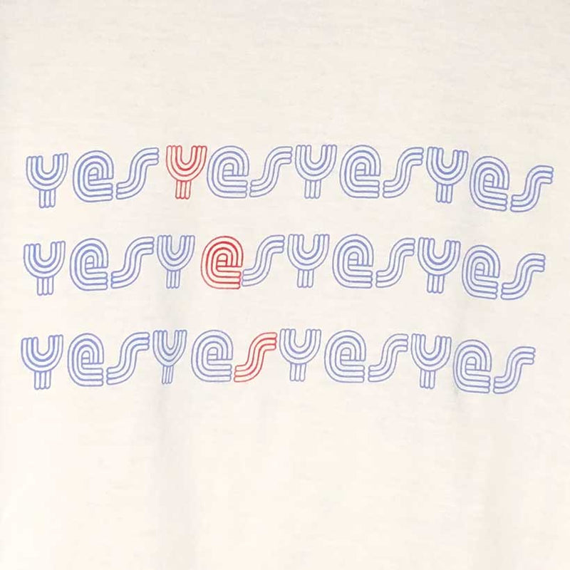Womens Yes Yes Yes Baseball Shirt close up
