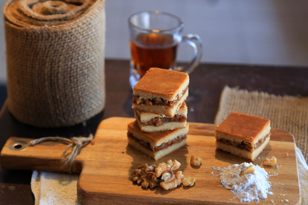 Orange & Walnut Squares