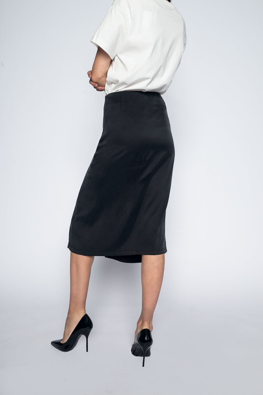 Tulip Skirt Black-Bottoms-Christina Dienst