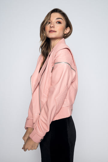 Ruby Leather Jacket-Jacket-Christina Dienst