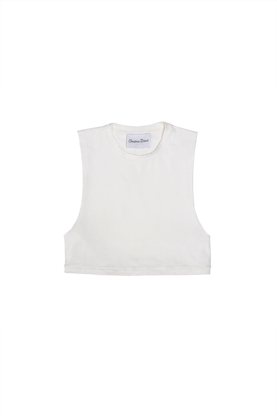 Bella Crop Top White-Tops-Christina Dienst