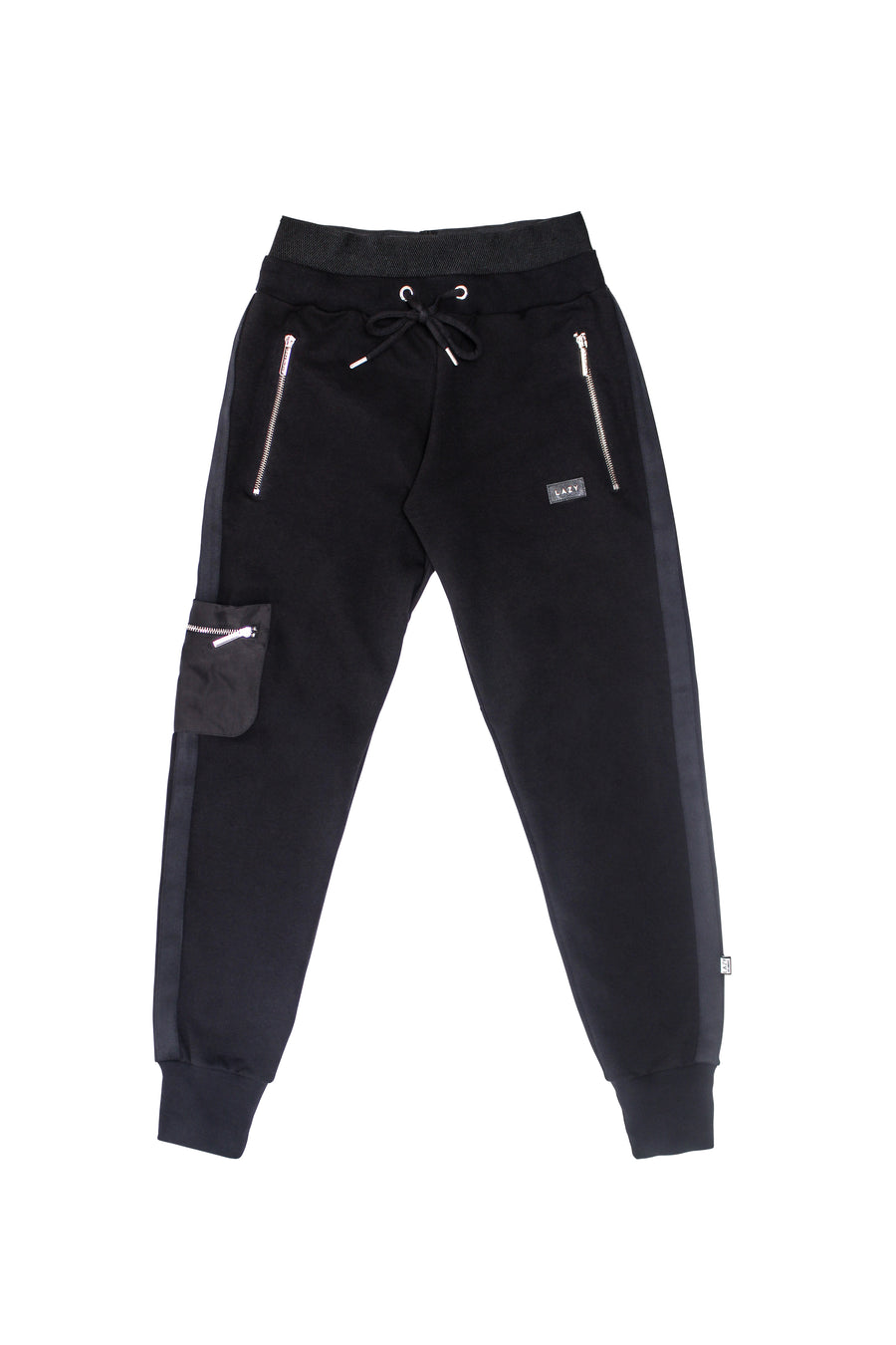 LAZY 2.0 Sweat Pants Black-Bottoms-Christina Dienst