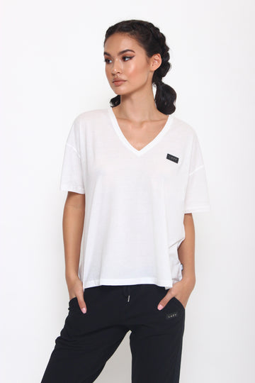 LAZY 1.0 T-Shirt White-Tops-Christina Dienst