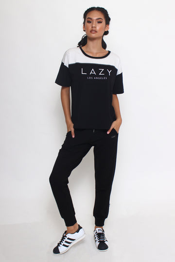 LAZY 2.0 T-Shirt Black-Tops-Christina Dienst