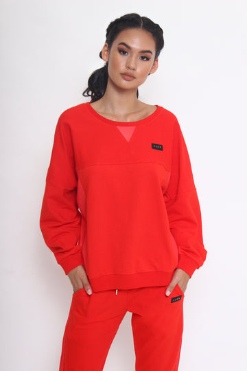 LAZY 1.0 Sweater Red-Tops-Christina Dienst