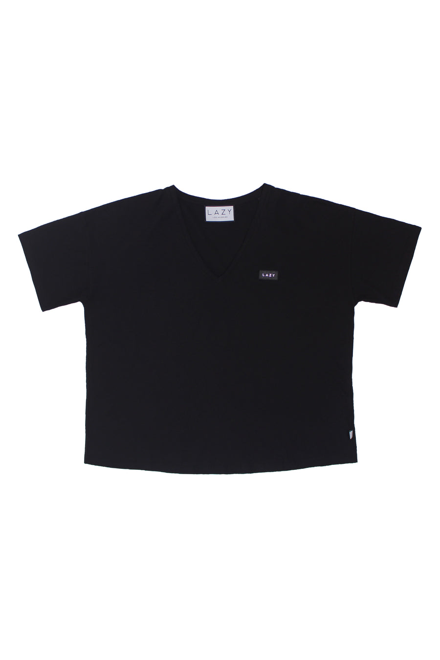 LAZY 1.0 T-Shirt Black-Tops-Christina Dienst