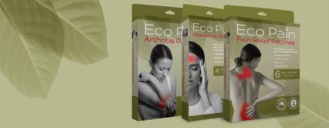 Eco Pain, Pain Relief, Natural Pain Relief, Pain Relief Patches, Headache Patches, Arthritis Patches