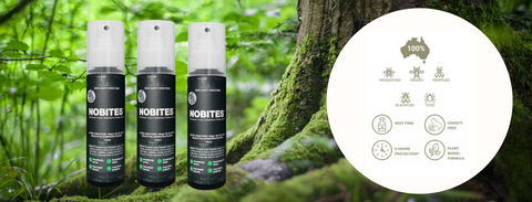 Nobites, Insect repellent, natural insect repellent, deet free, australian insect repellent.