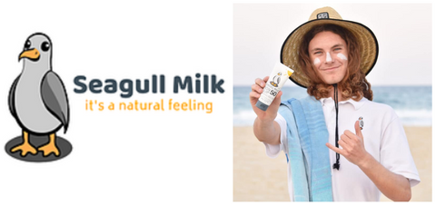 Seagull Milk, Reef Safe Sunscreen, Where to buy Seagull Milk Sunscreen, Non Slip Sunscreen, Australian Made Sunscreen