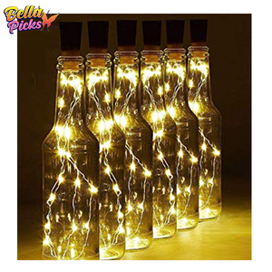 Bottled Fairy Cork Lights