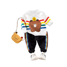 Laden Sie das Bild in den Galerie-Viewer, Long-sleeve Tee and Pants Spring Set for Kid