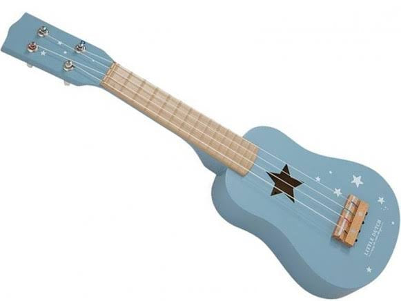 Wooden Guitar - blue