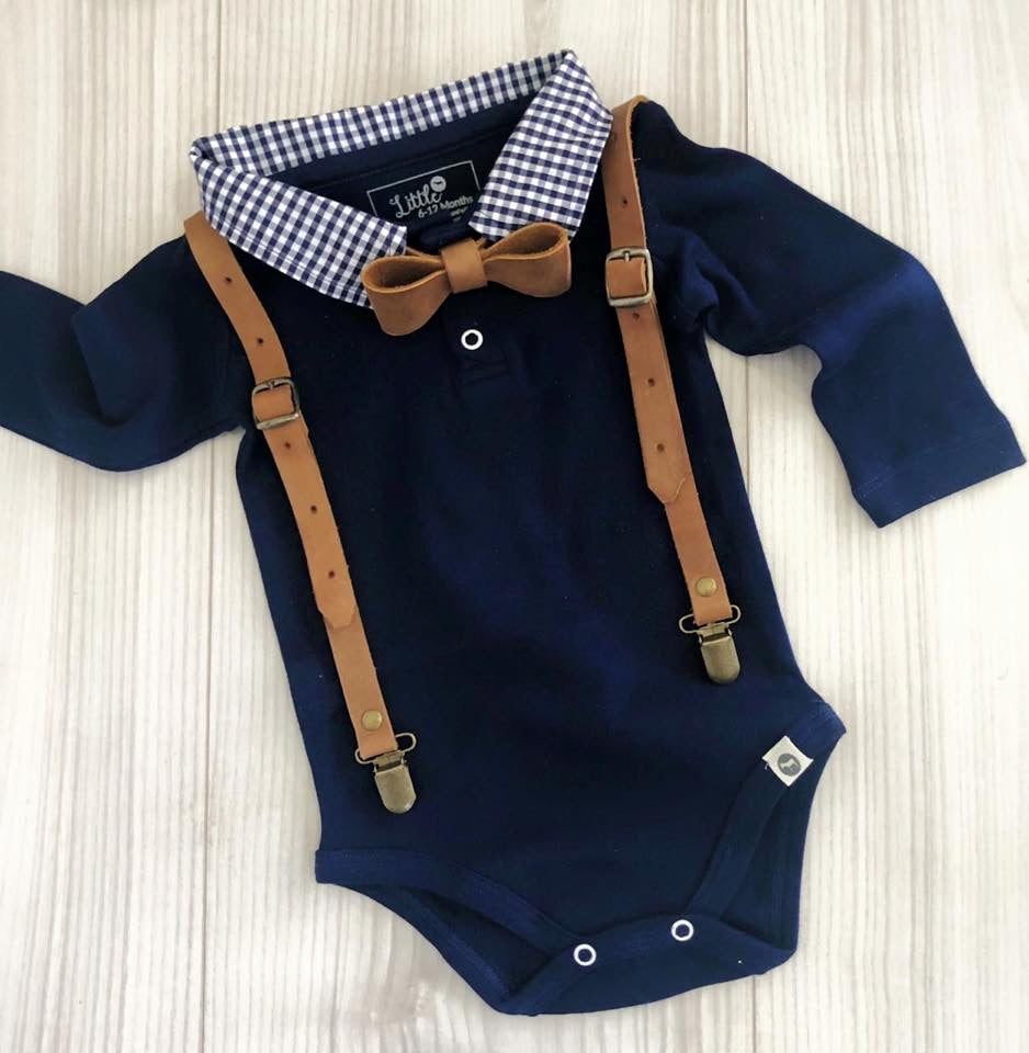Navy collar vests