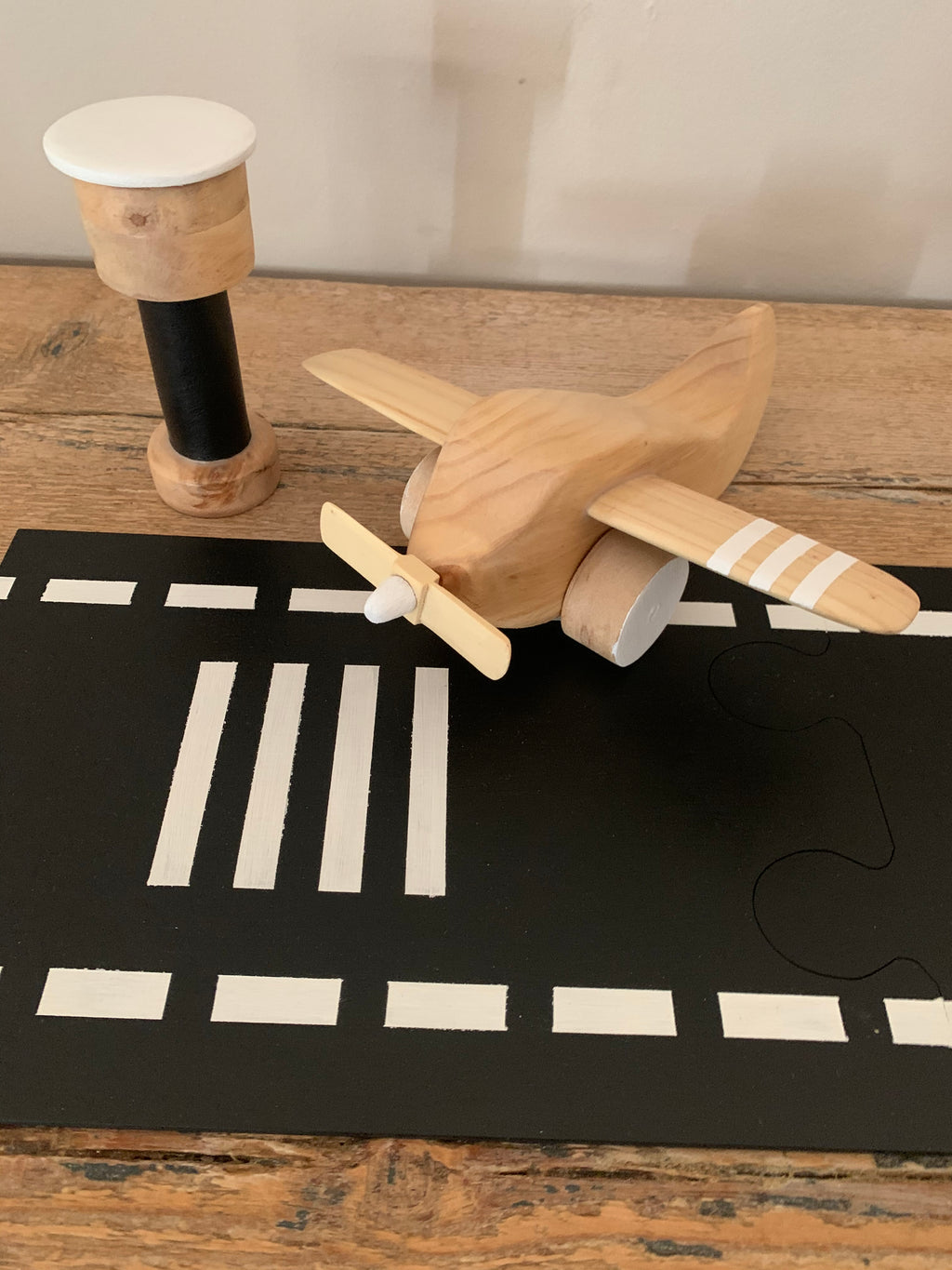 Wooden airport set