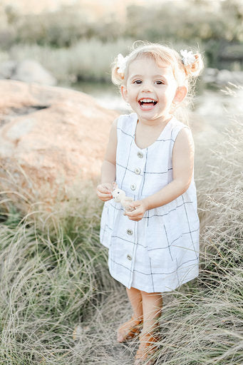 Linen girly dress