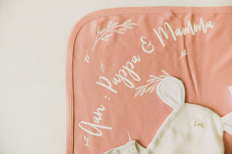 Soft rose Swaddle set