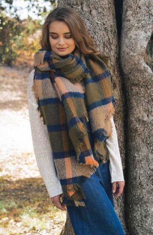 Oversized Chunky Plaid Scarf (multiple colors)