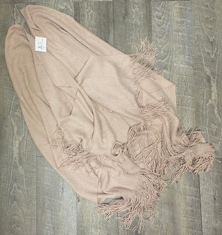Oversized Metallic Tassel Shawl