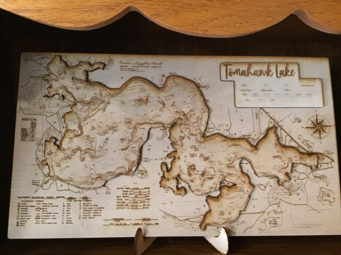 Laser Cut Wood Map (Plain)