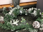 Pine Cone and Bells Garland