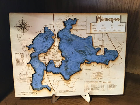 Laser Cut Wood Map (Colored)