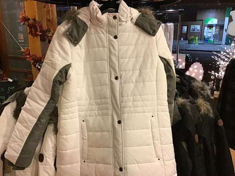 WP Woman's Puffer Wht/Blk