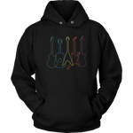 Guitars in Colors Hoodie