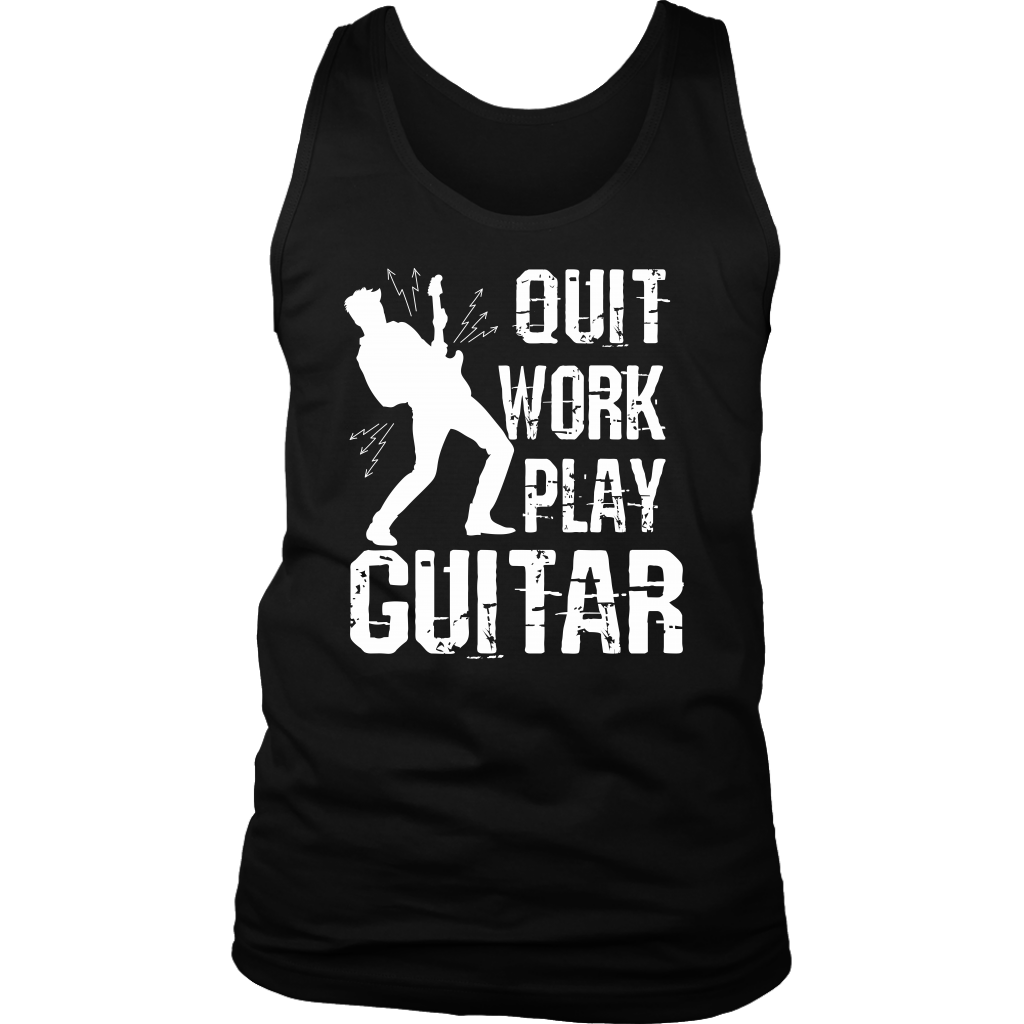 Quit Work Play Guitar Tank Top